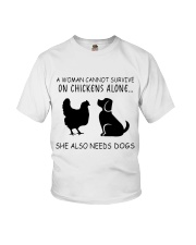 She Also Needs Dogs Youth T-Shirt thumbnail
