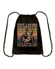Pipe Laying Expert Drawstring Bag thumbnail