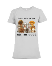 Pet All The Dogs Premium Fit Ladies Tee thumbnail