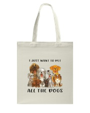 Pet All The Dogs Tote Bag thumbnail