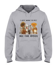 Pet All The Dogs Hooded Sweatshirt thumbnail
