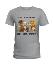 Pet All The Dogs Ladies T-Shirt thumbnail