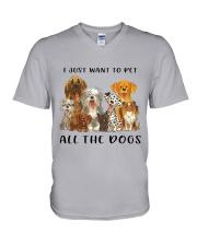 Pet All The Dogs V-Neck T-Shirt thumbnail