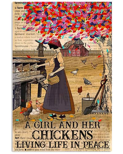 A Girl And Her Chickens