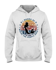 I Wanna Be Where The People Aren't Hooded Sweatshirt thumbnail