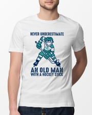An Old Man With A Hockey Stick Classic T-Shirt lifestyle-mens-crewneck-front-13