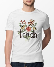 Teach Peace Flowers Classic T-Shirt lifestyle-mens-crewneck-front-13