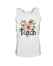 Teach Peace Flowers Unisex Tank tile