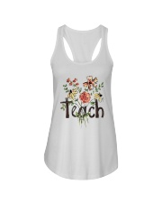 Teach Peace Flowers Ladies Flowy Tank tile