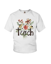 Teach Peace Flowers Youth T-Shirt thumbnail