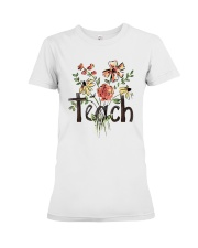 Teach Peace Flowers Premium Fit Ladies Tee thumbnail