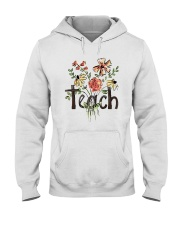 Teach Peace Flowers Hooded Sweatshirt thumbnail