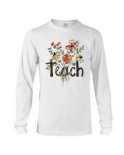 Teach Peace Flowers Long Sleeve Tee tile