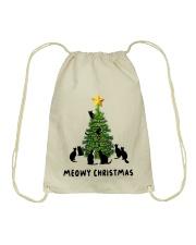 Meowy Christmas Drawstring Bag thumbnail