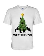 Meowy Christmas V-Neck T-Shirt thumbnail