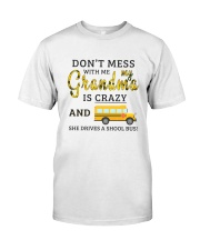 She Drives A School Bus Classic T-Shirt front