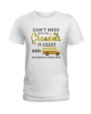 She Drives A School Bus Ladies T-Shirt thumbnail