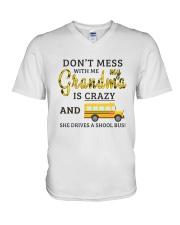 She Drives A School Bus V-Neck T-Shirt thumbnail