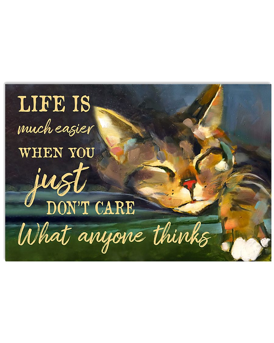 Life Is Much Easier 17x11 Poster