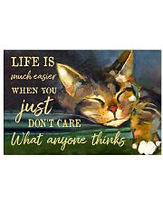 Life Is Much Easier 17x11 Poster front