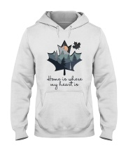 Home Is Where The Heart Is Hooded Sweatshirt front