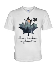 Home Is Where The Heart Is V-Neck T-Shirt thumbnail