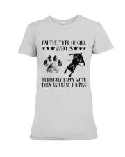 Dogs And Base Jumping Premium Fit Ladies Tee thumbnail