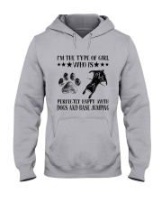 Dogs And Base Jumping Hooded Sweatshirt thumbnail