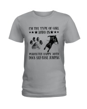 Dogs And Base Jumping Ladies T-Shirt tile