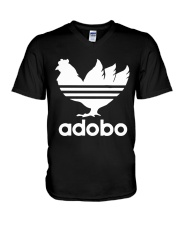 Adobo Chickens V-Neck T-Shirt thumbnail