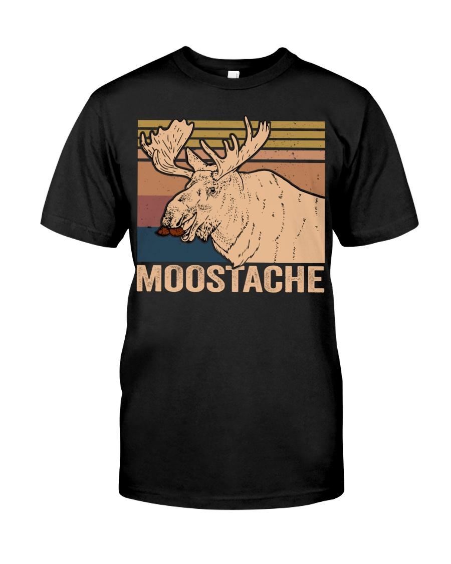 Moostache Funny Classic T-Shirt