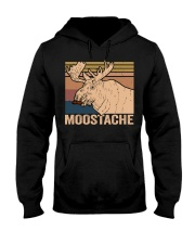 Moostache Funny Hooded Sweatshirt thumbnail