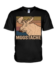Moostache Funny V-Neck T-Shirt thumbnail