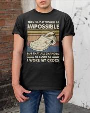 I Wore My Crocs Classic T-Shirt apparel-classic-tshirt-lifestyle-31