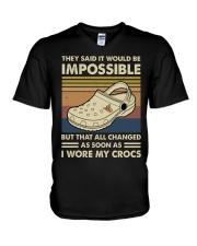 I Wore My Crocs V-Neck T-Shirt thumbnail