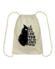 Love You More Than Drawstring Bag thumbnail