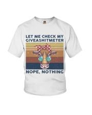 Let Me Check My Giveashitmeter Youth T-Shirt thumbnail
