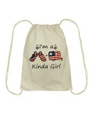 I'm A Kinda Girl Drawstring Bag thumbnail