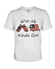 I'm A Kinda Girl V-Neck T-Shirt thumbnail