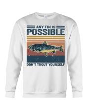 Don't Trout Yourself Crewneck Sweatshirt thumbnail