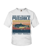 Don't Trout Yourself Youth T-Shirt thumbnail