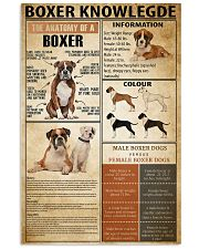 Boxer Knowledge 11x17 Poster front