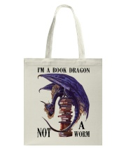 I'm A Bookd Dragon Not A Worm Tote Bag thumbnail
