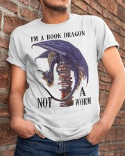 I'm A Bookd Dragon Not A Worm Classic T-Shirt apparel-classic-tshirt-lifestyle-26