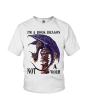 I'm A Bookd Dragon Not A Worm Youth T-Shirt thumbnail