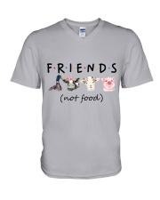 Friends Not Food V-Neck T-Shirt thumbnail
