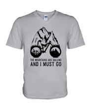 Mountain Biking V-Neck T-Shirt thumbnail