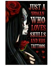 Just A Woman Loves Skull 11x17 Poster front