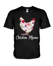 Chicken Mama V-Neck T-Shirt thumbnail