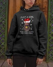 Love Sloth And Christmas Hooded Sweatshirt apparel-hooded-sweatshirt-lifestyle-front-03